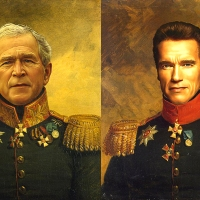 25 Digital Military Portraits from Replace Face Project by Steve Payne