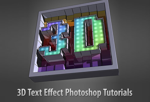 Photoshop Text Effects Tutorials 2013 40 Stunning 3D ...