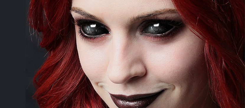 Сделать черные глаза как у демона в фотошопе