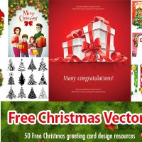 50 Free Christmas Vector Design Resource - EPS AI SVG
