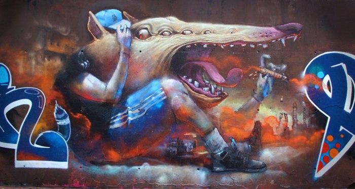 Graffiti and Illustrations by    artist Antonio Segura Donat