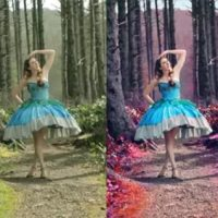 Photoshop Tutorial : How to Magical Forest vibrant colors contrast fairytale retouching