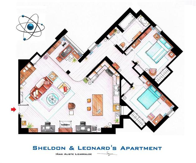 Famous television show home floor plans creativa club for Floor plans of famous houses