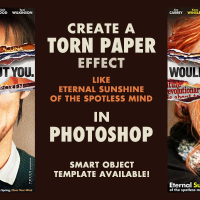 PHOTOSHOP TUTORIAL: CREATE A TORN PAPER EFFECT LIKE ETERNAL SUNSHINE
