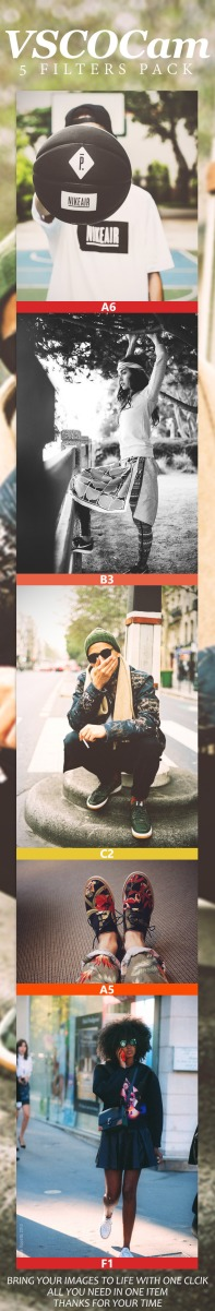 VSCO Cam 5 Filters - Photoshop actions